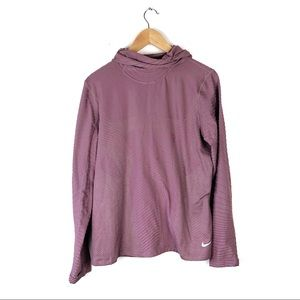 Nike face mask hoodie size XL pink rubbed